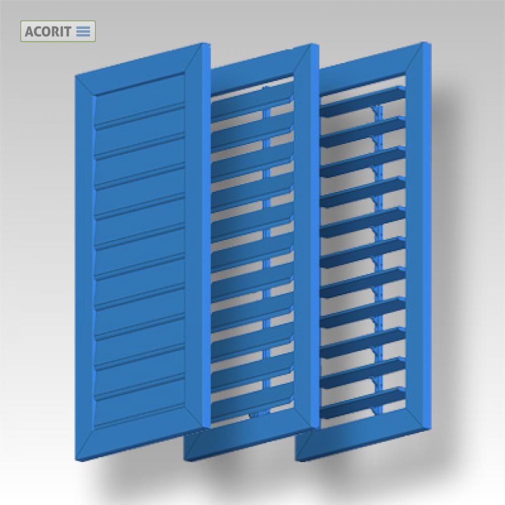 Fensterladen Klappladen Klappfensterladen Aluminium Acorit Bl 98 Bewegliche Lamellen 98 Mm